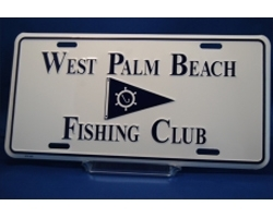 West Palm Beach Fishing Club License Plate