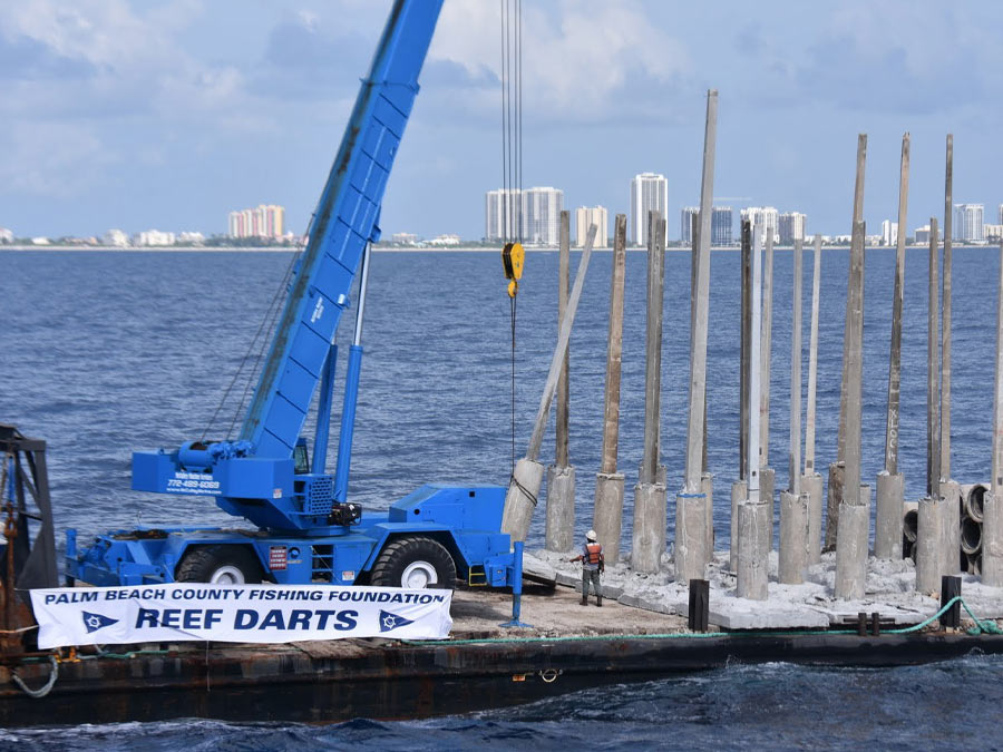 reef darts on barge