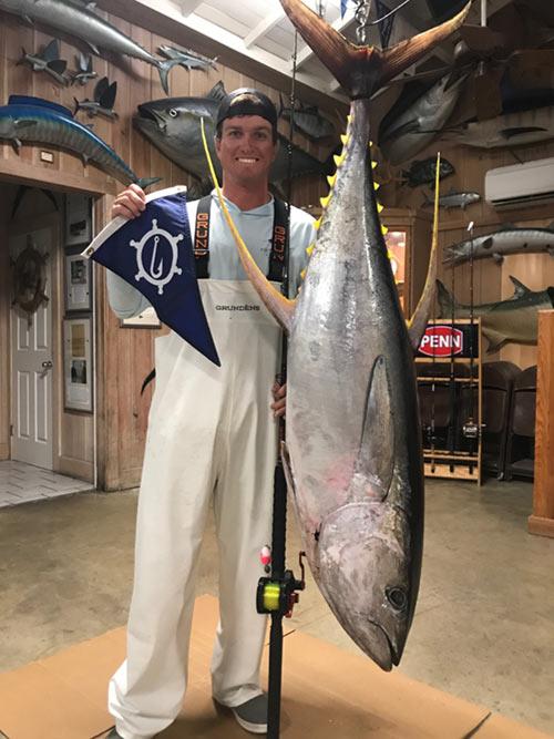 Eddie Twyford with big tuna