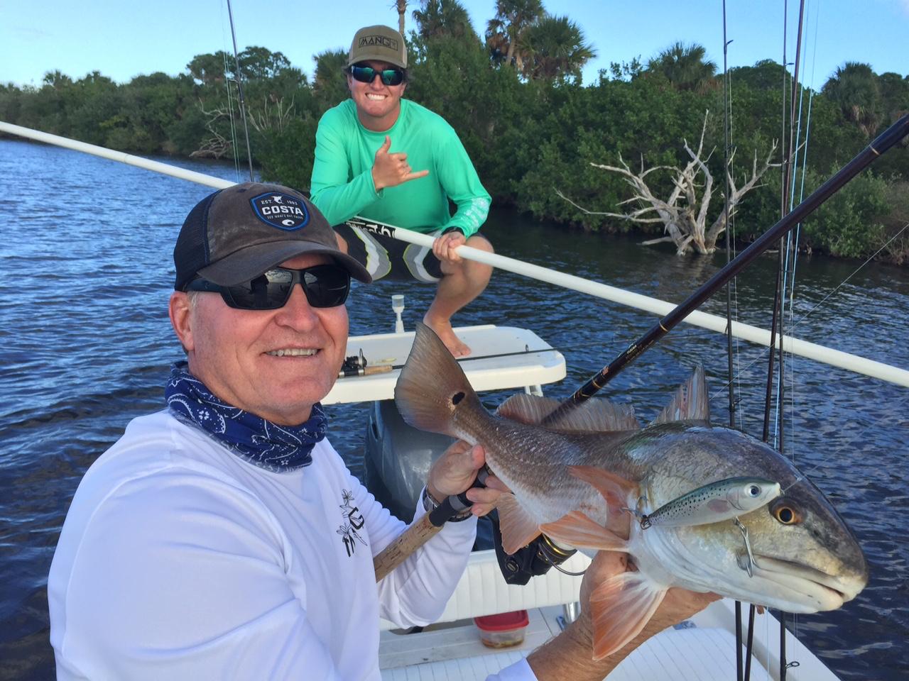 Eddie Guides Papa T to redfish