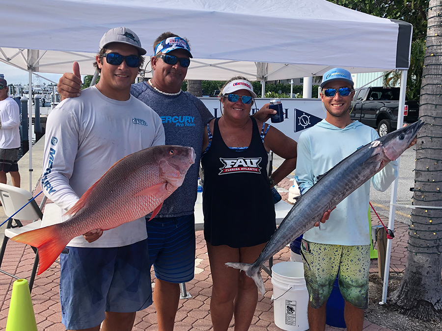 photo of mutton snapper and wahoo