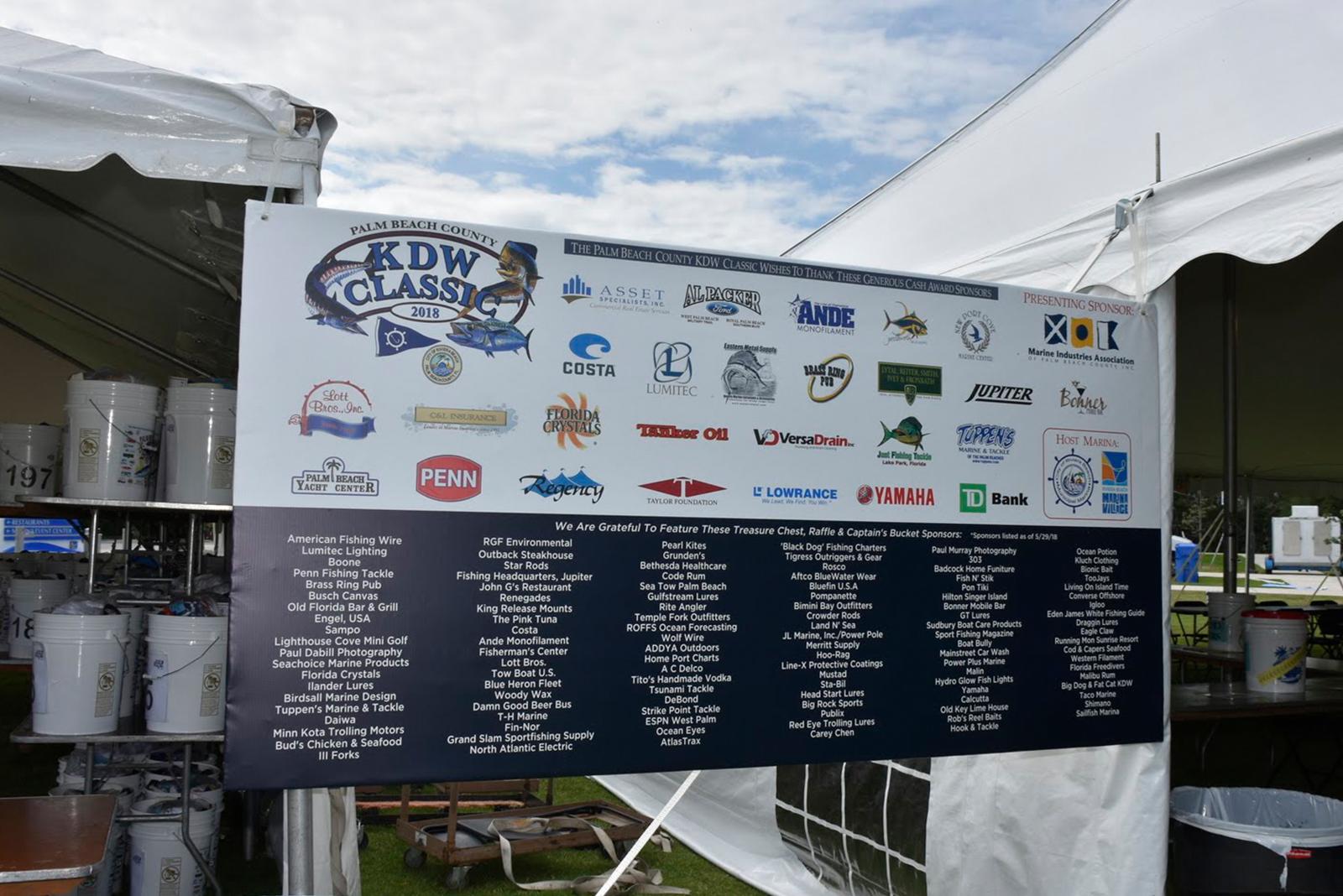 Fishing Sponsor board